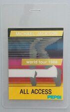 1988 Gold Foil Michael Jackson Backstage Pass World Tour 88