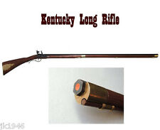 Replica KY Long Rifle Davy Crockett Daniel Boone Colonial Flintlock Prop Gun