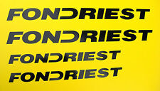 FONDRIEST road Bike frame Decals Stickers