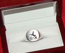 COLT FIREARMS Rampant Colt Sterling Silver Ring Size 10 in wood Case