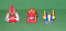 3 Pcs MEGAZORD Heads/Helmets Power Rangers Operation Overdrive Dlx DUALDRIVE +2