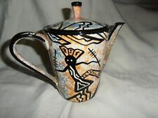 1970'S MANA~HANDCRAFTED ART POTTERY~LIDDED PITCHER~SIGNED~EXCEL. CONDITION