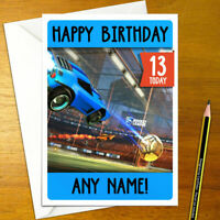 ROCKET LEAGUE Personalised Birthday Card - soccer football cars personalized