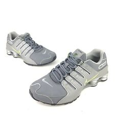 Nike Shox NZ Comfort Running Shoes Men's Size 9 Medium Gray Green Sneakers