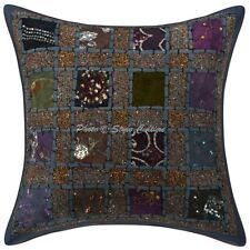 Cotton Patchwork Pillow Case Cover Indian Embroidered Cotton Cushion Cover