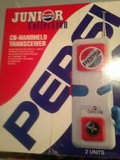 Vintage Pepsi Junior Collection CB Handheld 2 Walkie Talkies New