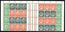 GERMANY Deutsches Reich Gutter Block Plate Hindenburg Sc# 418 419 420 MINT NH OG