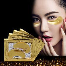 10Gold Crystal Collagen Powder Eye Mask Augen Pad Anti Aging Feuchtigkeit Maske