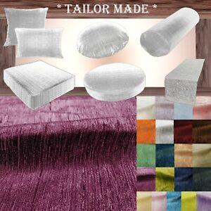 Wn17 Dark Purple Chenille Sofa Seat Patio Bench Box Cushion Bolster Cover/Runner