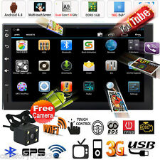 "Android 7"" Double 2 Din Car GPS Nav Stereo MP3 Player Radio Wifi 3G USB + Camera"