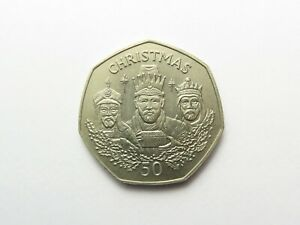 Gibraltar Christmas 50p 1988 (cupro-nickel currency issue)