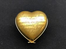 Artoria Limoges Trinket Neiman Marcus Heart Shaped Friend Box Gold