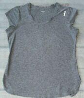 Reebok Women's Training Legend SS Top Slim Gray Short Sleeve Size L