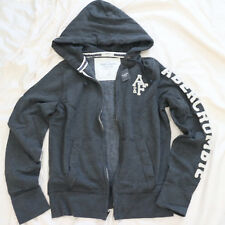 NWT Abercrombie & Fitch A&F Mens Premium Hoodie Jacket Charcoal Gray Size S NEW