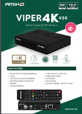 More details for amiko viper 4kv20 ideal for tivusat works with original card updates automatic