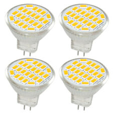 4x MR11 GU4 LED Light Bulbs 3.5W 3000K 400Lm Warm White AC/DC12V 120° Beam Angle