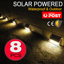 8X Wireless Solar Lights Waterproof Light Sensor Outdoor Light for Step Garden