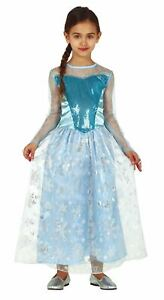 Girls Frozen Snow Princess Costume Christmas Elsa Fancy Dress Kids Outfit