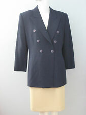 JONES NEW YORK Size 6 Blue Double Breasted Fully Lined Blazer (Made in Canada)