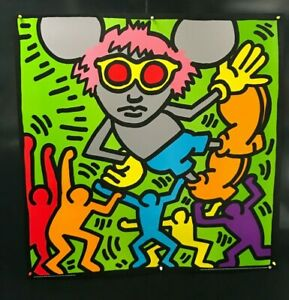 Keith Haring - Andy Mouse 2 - 1986 - Large Offset Poster '38,2 x 38,2'