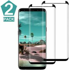 Samsung Galaxy S9 Screen Protector Easy Install 3D Curved Tempered Glass 2 Pack