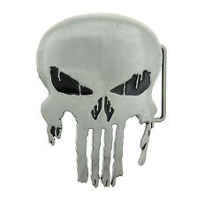 Punisher Skull Antique Silver Metal Belt Buckle