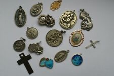 More details for vintage christian st christopher and virgin mary medallions and pendants