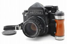 【N.MINT-】Pentax 6x7 TTL 67 + SMC Takumar 105mm Lens, Grip, Strap from Japan #v04