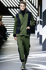 $895 Authentic Y-3 by YOHJI YAMAMOTO Men's Quilted Reversible Army Style Jogger