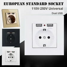 USB Output Professional Wall Socket Power Supply Electrical Outlet EU Standard