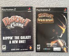 Ratchet & Clank & Ratchet Deadlock Demo Discs - USA SHIP