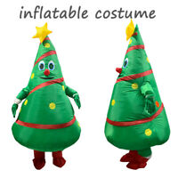 Inflatable Christmas tree Costume Adults Blowup Party Halloween Cosplay Mascot