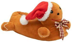 British Footwear Unisex Gingerbread Animal Novelty Soft Fun Quality Slippers