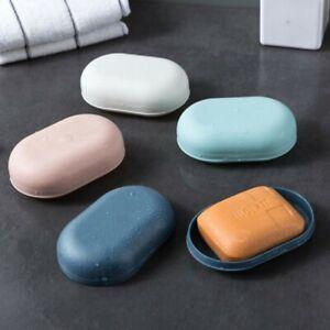 Plastic Bathroom Soap Box Shower Tray Dish Portable Soap Storage Holder Home