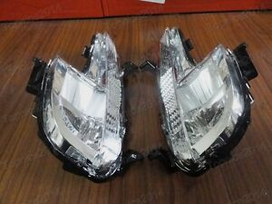 1Pair Clear Fog Lights Driving Lamps For Peugeot 508 2011-2014