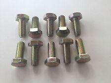 Confezione da 10, M10 x 25mm TESTA ESAGONALE Setscrew, Grade 10,9 GIALLO ZINCATI