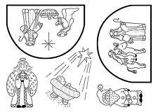Non montato Timbro foglio GESU 'BAMBINO-SA-5035