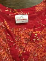 Hanna Andersson 130 Tunic Top Red Floral EUC