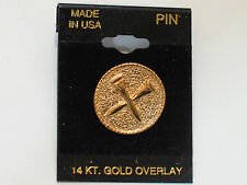 Golf Tee Pin  Made in USA 14K overlay