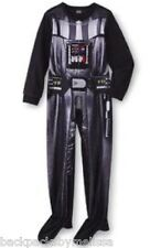 Star Wars Darth Vader COSTUME Fleece Pajamas Boy's 6 NeW Zip-Up Footed Pjs NWT