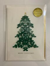 Christmas Card Hallmark Signature w/ 3-D Christmas Tree made of Quilling Paper