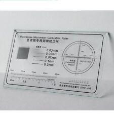 Microscope Stage Micrometer Calibration Slide Ruler Glass Gauge