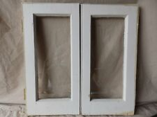 Pair Antique Cabinet Pantry Door Kitchen Cupboard Glass Old Vtg 24x12 237-17R
