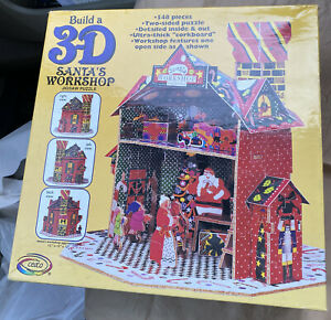 Two Sided 3-D SANTA'S WORKSHOP JIGSAW PUZZLE New