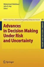 Advances in Decision Making Under Risk and Uncertainty (Theory and Dec-ExLibrary