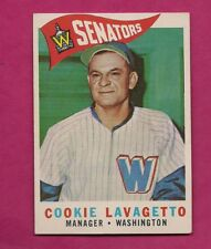 1960 TOPPS # 221 SENATORS COOKIE LAVAGETTO MANAGER  EX-MT CARD (INV# A6462)