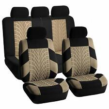 Car Seat Covers For Auto SUV Truck Front & Rear Set Beige Black