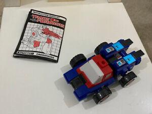Vintage Hasbro Transformers G1 Targetmaster Crosshairs & Manual