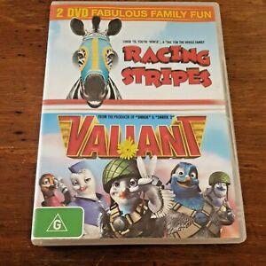 Racing Stripes plus Valiant DVD R4 VERY GOOD – FREE POST