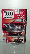 1/64 AUTO WORLD VINTAGE MUSCLE 1969 PONTIAC FIREBIRD RED B33
